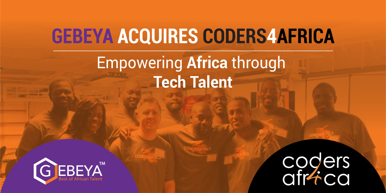 GEBEYA acquires CODERS4AFRICA to empower African tech talents